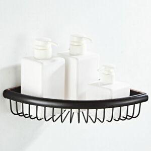 Oil Rubbed Bronze Corner Shower Rack Caddy Bathroom Soap Toiletries Shelf Basket