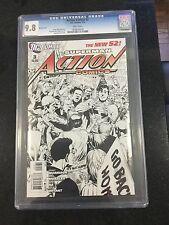 Action Comics # 3 Sketch Cover! / Cgc Universal 9.8 / January 2012 / Dc Comics