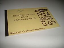 1964 ORIGINAL CORVETTE CONVERTIBLE PROTECTION/PLAN MANUAL