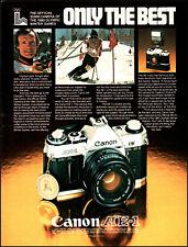 1979 Jean-Claude Killy skiing Canon AE-1 Camera vintage photo print ad ads80