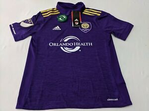 Adidas Orlando City SC MLS 2017 Soccer Home Jersey Purple Youth Medium BNWT $65