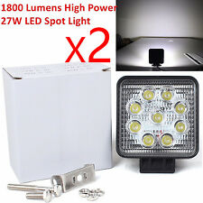 JDM ASTAR 3600LM 27W Square Waterproof Offroad White LED Work Light Spot Fog DRL