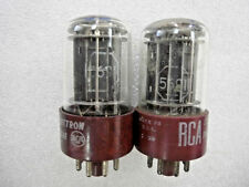 Vacuum tube RCA RED BASE 5 ROD 5691 / 6SL7   -----  Matched PAIR ------