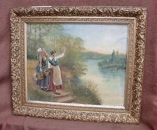 Jolie paysage Barbizon encadré - fin XIXe siècle