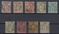 O3956/ FRANCE – SAGE – 1876 / 1900 USED CLASSIC LOT