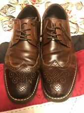 Joseph Aboud Wingtip Leather Shoes Mens Size 91/2D Brown Great Condition