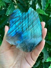 "Natural Labradorite Slab, 1.25"" - 5"" High Flash Raw Labradorite, Pick a Size"