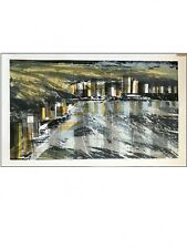 hand signed 1960sMid Century Howard Bradford Serigraph / 60s abstract Expression