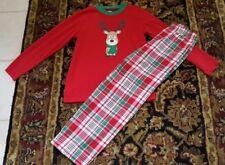 Gymboree Dog Reindeer Pajama Sleep Set Pajamas Christmas Boys M ( 7-8)