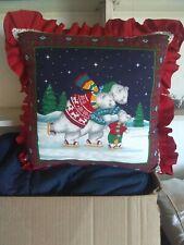 Christmas Polar Bear Decorative Pillow / Cushion