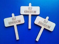 5 x MDF  Mini Wooden Door Plaques for Fairy doors  Elf Kingdom