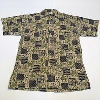 Go Barefoot Aloha Shirt A Hawaiian Tradition VLV Rockabilly Mens Size XS