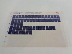 Microfiche Catalogue des Pièces Roth Toro Chasse-Neige Puissance Shift