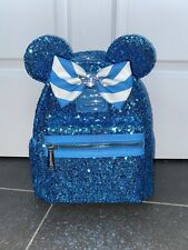 More details for disney cruise line teal blue sequin loungefly backpack bnwt mickey mouse