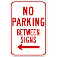 """Details about  /PARKING with Arrow 6/""""x24/"""" RIDER SIGNS Buy 1 Get 1 FREE 2 Sided Plastic"""