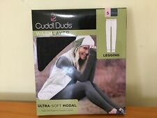 Cuddl Duds Women Size S Modal Ultra Soft Warm Layer Stretch Legging Charcoal