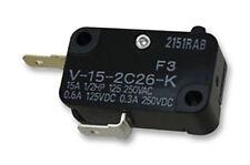 SHURFLO  V-15-2C26-K  Microswitch for SHURFLO Pump PIN PLUNGER SPST-NC 15A 250V
