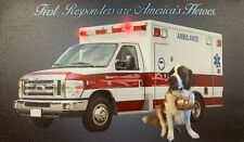 AMBULANCE LED Light Up Lighted Canvas Painting Picture Wall Art Home Decor