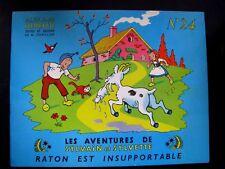 Sylvain et Sylvette n°24. Raton et insupportable. Fleurus 1964.