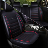 Full Surrounded Car Seat Cover Cushion Protection Full Set Black + Red Car SUV