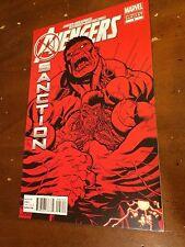 AVENGERS X-SANCTION #3 (2012) Marvel HTF 2nd print VARIANT RED HULK NM-