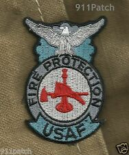 U.S. AIR FORCE FIRE PROTECTION SHIELD USAF FIREFIGHTER PATCH
