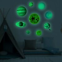 10 Planets Wall Stickers PVC Illuminated Solar System Light DIY Wall Stickers UK