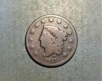 1831 Coronet Large Cent/US Large Cents/Philadelphia mint  LH3