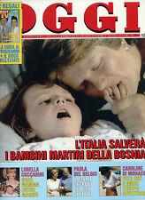 OGGI N°35/ 30/AGO/1993 LORELLA CUCCARINI * PAOLA DEL BELGIO * CAROLINE DI MONACO