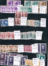 Cuatro fichas con series y sellos del Segundo Centenario