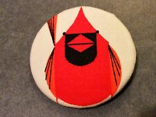 "Charley Harper Red Bird  Cardinal Fabric XL Sewing Button 1.5"" Charles CHF11"