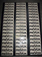 34 REVOX Spulen-Aufkleber für 18er und 26er Spulen in weiß