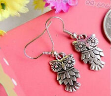 HOT Wholesale 2Pair/lot Charm Fashion Jewelry Silver Owl Stud Earrings NEW