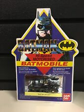 1989 BATMAN HI-SPEED MOTORISED BATMOBILE BY BANDAI MINT ON CARD UNPUNCHED 1:64