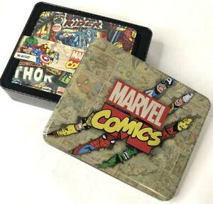 Marvel Comics Spider Man, Hulk, XMEN Avengers Wallet & Collectible Gift Tin Box