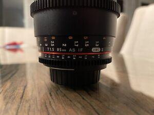 Rokinon Cine DS 85mm T1.5 AS IF UMC Full Frame Lens