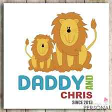 Personalised Christmas Card Dad Daddy Father Fathers Day Birthday Cute Lion Card