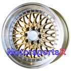 XXR 536 Gold Machine Lip 16x8 +20 Wheels Rims 4x100 Mesh 83 84 90 91 BMW E30 E21