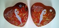 Russel Stover Elvis Burning Love Heart Tins Singing Flames Novelty Song Lot of 2