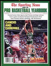 The Sporting News Magazine 1988-89 Pro Basketball Yearbook EX 012817jhe