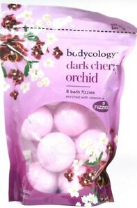 Bodycology Dark Cherry Orchid Vitamin E Enriched Moisturizing 8 Ct Bath Fizzies