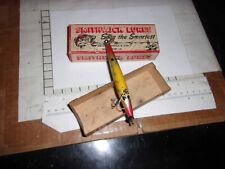 Vintage Smithwick devils horse f-103 in 2 pc cardboard box vintage wood topwater