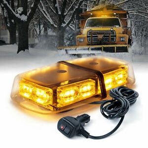 Xprite 36 LED Rooftop Strobe Light Rotating Emergency Flash Beacon 12V Amber