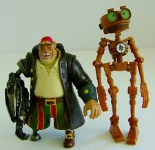Disney Treasure Planet B.E.N. Robot & Cyborg John Silver Figures