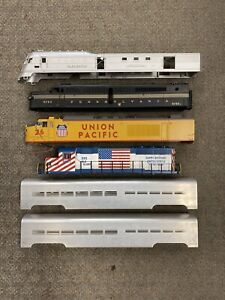 + MTH O Scale Premier Lot Of 6 Shells UP MKT PRR GP-40 Alco PA Zephyr