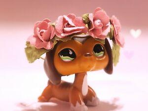 🌸 Littlest Pet Shop LPS 2X Accessory Lot Handmade Custom PINK Flower Crowns 🌸