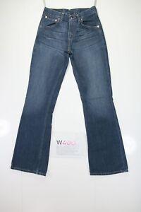 Levis 525 Bootcut (Cod. W400) Tg41 W27 L32 jeans usato Vita Alta Indigo zampa