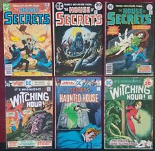 VINTAGE DC HORROR Comic Lot(6) HOUSE of SECRETS》WITCHING HOUR & MORE》SHIPS FREE