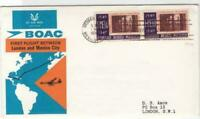 boac  london to mexico 1966 first flight air mail stamps cover ref r15404