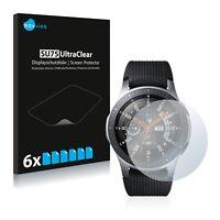 6x Displayschutzfolie für Samsung Galaxy Watch (46 mm) Klar Schutzfolie